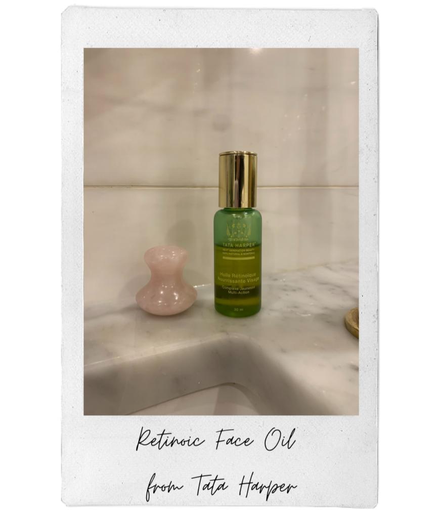 Emmanuelle's fall essential is the Tata Harper Retinoic Face Oil.