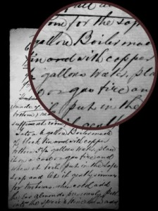 A hand-written formula by William Penhaligon